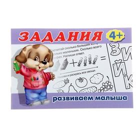 Раскраска с заданиями «Развиваем малыша»: для детей от 4 лет