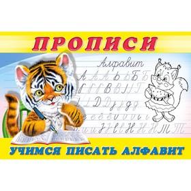 Раскраска-пропись «Учимся писать алфавит»