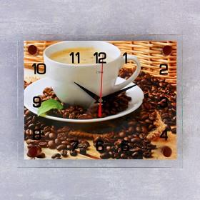"""Часы настенные, серия: Кухня, """"Чашка кофе"""", 20х26  см, микс"""