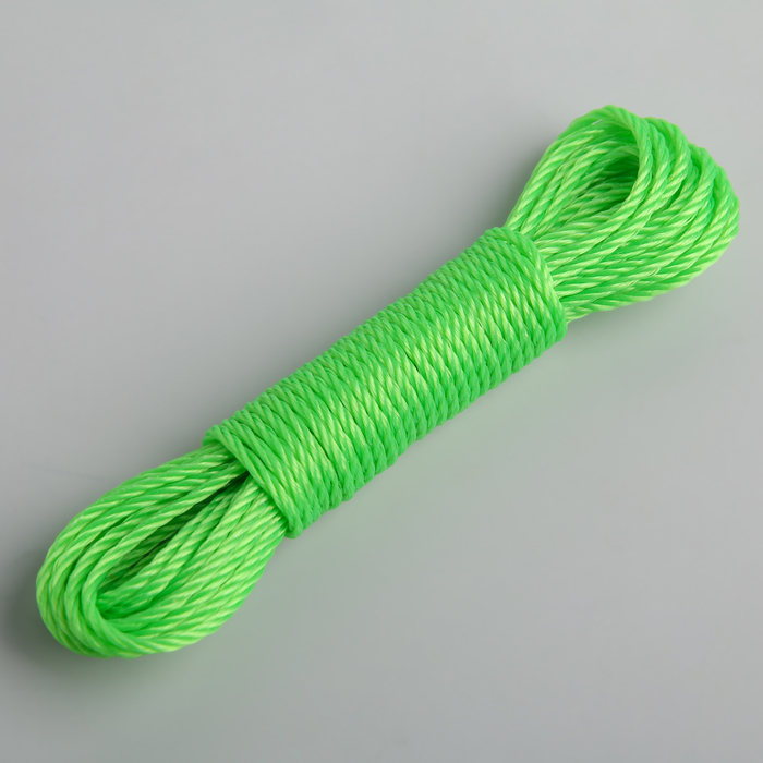 Верёвка бельевая Доляна, d=3 мм, длина 10 м, цвет МИКС