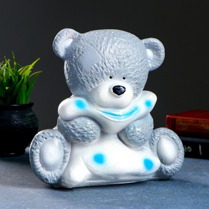 "Копилка ""Медведица с подушкой"" серая 18х24х24см"