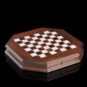 Доска шахматная с контейнером, диаметр клетки 3,7 см