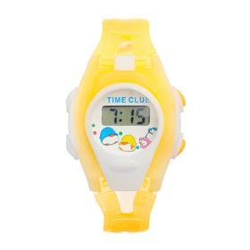 Часы наручные детские 'Забава', электронные, ремешок силикон прозрачный, микс, l=20 см Ош