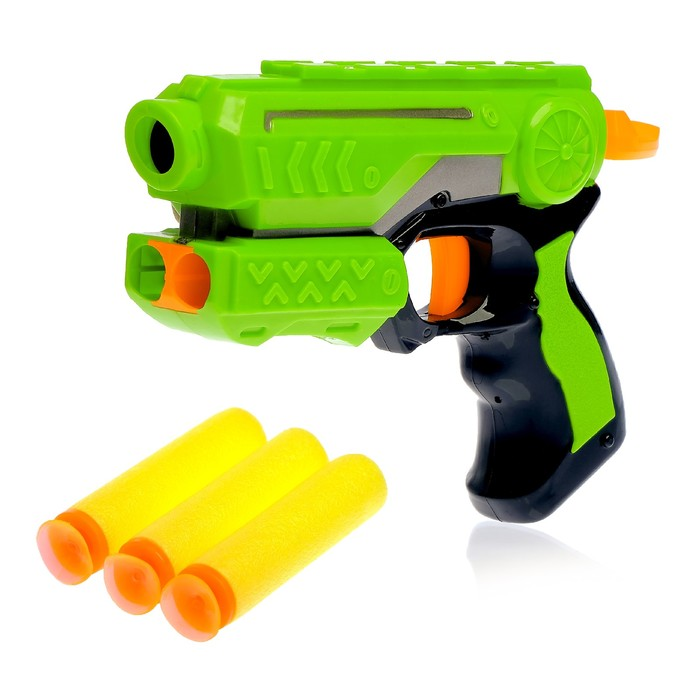 Пистолет Меткий стрелок, стреляет мягкими пулями, цвета МИКС