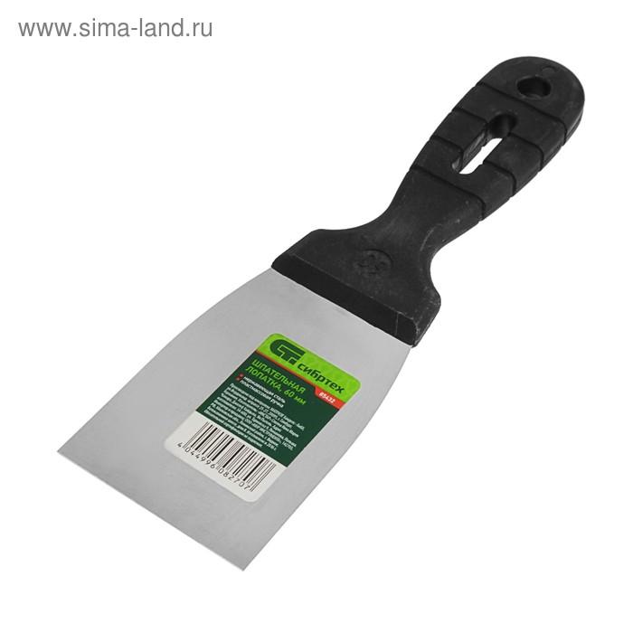 """Шпатель фасадный """"СИБРТЕХ"""", 60 мм, нержавеющая сталь, ручка пластик"""
