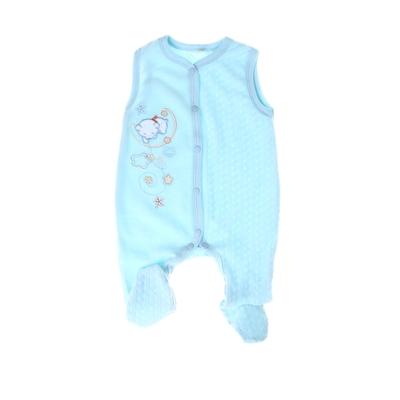 """Ползунки """"Снежные малыши"""" с вышивкой, на кнопках, без рукавов, рост 62 см, цвет голубой - Фото 1"""