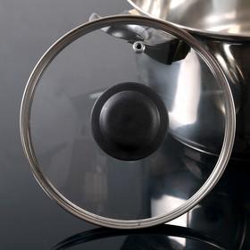 Крышка стеклянная d=16 см, с прикручивающейся пластиковой ручкой