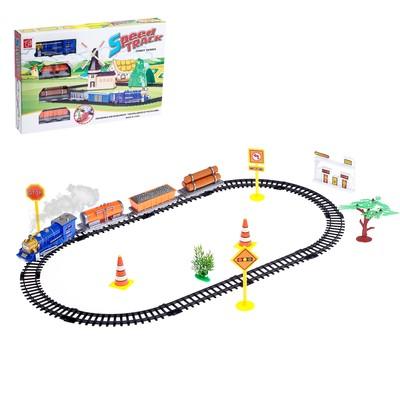 Железная дорога «Паровоз», работает от батареек