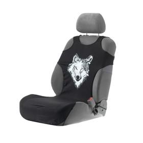 Чехол-майка на переднее сидение с подогревом Волк, комплект 2 шт. Ош