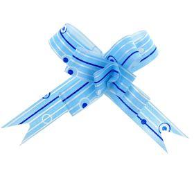 Бант-бабочка №1,2 'Капли дождя', цвет голубой Ош