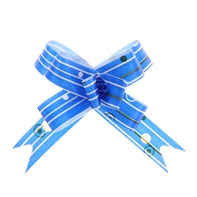 Бант-бабочка №1,2 'Капли дождя', цвет синий Ош