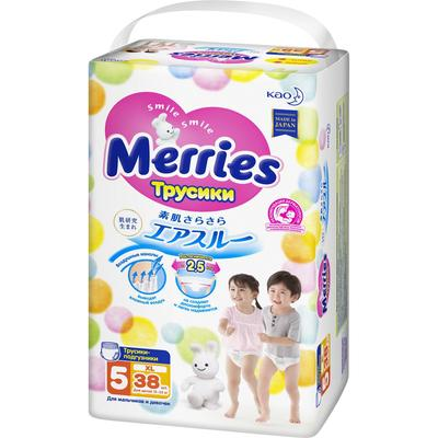 Подгузники-трусики Merries, размер XL (12-22 кг) 38 шт - Фото 1