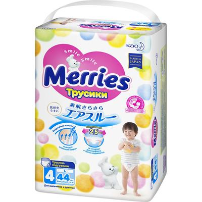Подгузники-трусики Merries, размер L (9-14 кг), 44 шт