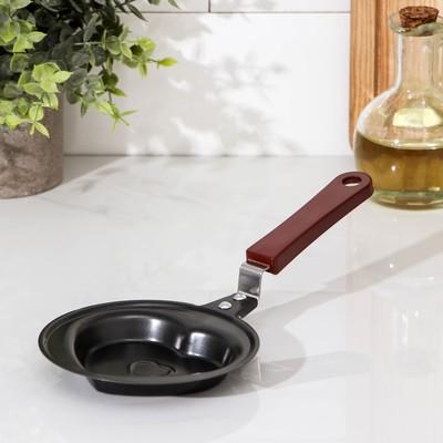 Сковорода Доляна «Сердце», d=12 см, антипригарное покрытие