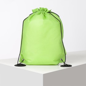 Мешок для обуви, отдел на шнурке, цвет зелёный Ош