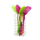 """Набор кухонных инструментов """"Радуга"""", 6 предметов на подставке, цвет МИКС - Фото 1"""