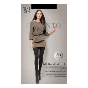Колготки женские INCANTO MicroVelvet 100 den, цвет чёрный (nero), размер 4