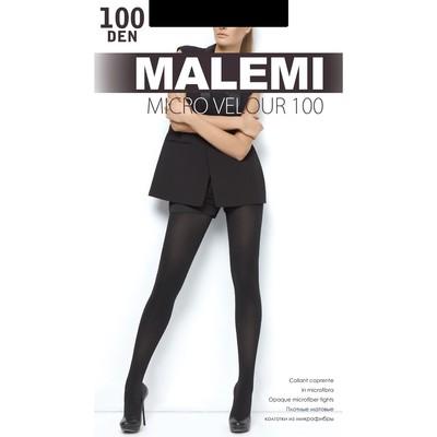 Колготки женские MALEMI Micro Velour 100 цвет чёрный (nero), р-р 5