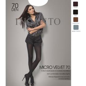 Колготки женские INCANTO MicroVelvet 70 den, цвет чёрный (nero), размер 4