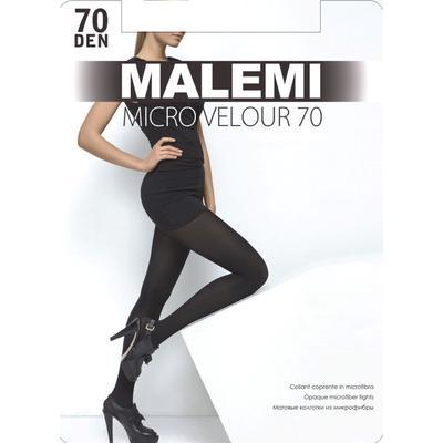 Колготки женские MALEMI Micro Velour 70 den, цвет тёмный загар (chocolate), размер 2 - Фото 1