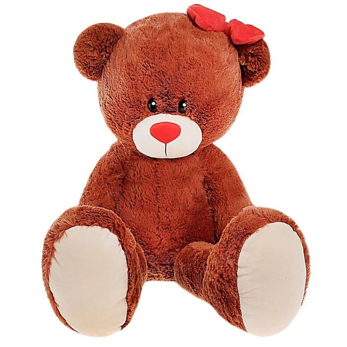 Мягкая игрушка Мишка Лапа, цвет шоколадный, 103 см