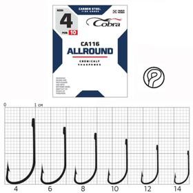 Крючки Cobra ALLROUND серия CA116 №12, 10 шт.