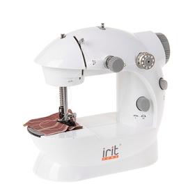 Швейная машинка Irit IRP-01, 2 операции, полуавтомат, от батареек/сети, бело-серая Ош