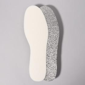 Стельки для обуви фольгированные, с эластичной белой пеной, универсальные, 36-41р-р, пара, цвет МИКС