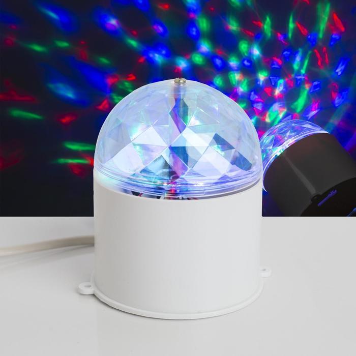 Световой прибор хрустальный шар d7.5 см 220V, БЕЛЫЙ
