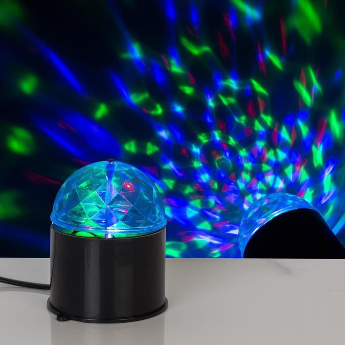 Световой прибор хрустальный шар d7.5 см 220V, ЧЕРНЫЙ