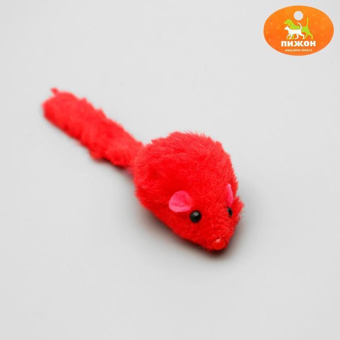 Игрушка для кошек Мышь малая цветная, микс цветов