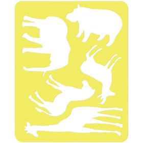 Трафарет для рисования «Животные Африки», европодвес Ош