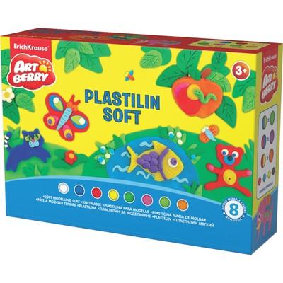 """Пластилин мягкий (восковой) 8 цветов по 24 г с аксессуарами для лепки, ArtBerry """"Учимся играя"""" - Фото 1"""
