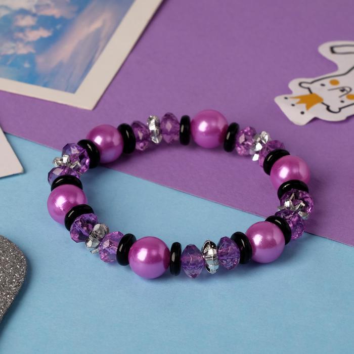 Браслет детский Выбражулька ундина, цвет фиолетовый