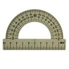 Транспортир 180*/10 см МЕТАЛЛИЧЕСКИЙ (стальной)