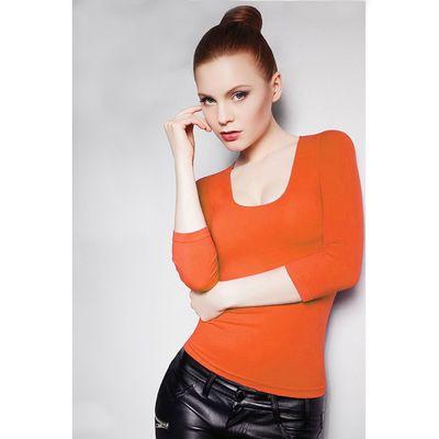 Джемпер женский бесшовный ARTG MAGLIA SCOLLO MADONNA MANICA 3/4 (orange, S/M)