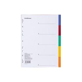 Разделитель листов А4 ErichKrause, 5 листов, пластик, по цветам, 120 мкм Ош