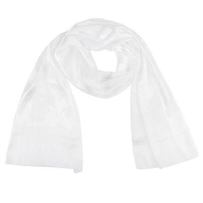 Палантин однотонный, размер 56х170 см, цвет белый C 957 текстиль, жаккард - Фото 1
