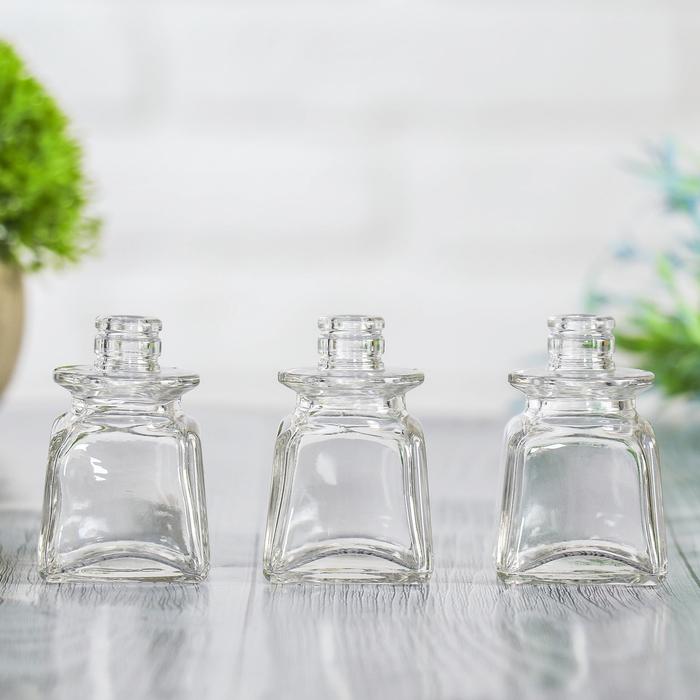 Набор ваз 3 шт Жанетта подвесная, капля-кубик 6х4 см