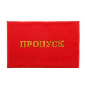 Бланк «Пропуск», красный