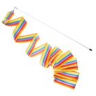 Лента гимнастическая с палочкой, 6 м, цвета микс
