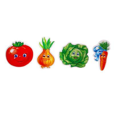 Мягкие пазлы «Овощи», 4 элемента - Фото 1