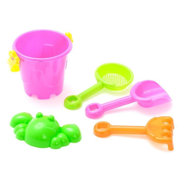 """Песочный набор """"Малыш"""", 5 предметов, объём ведра 0,15 л, цвета МИКС"""