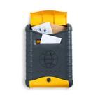 Ящик почтовый «Стандарт», вертикальный, с защелкой, с накладкой, серо-жёлтый
