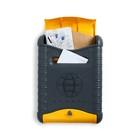Ящик почтовый «Стандарт», вертикальный, с замком, серо-жёлтый