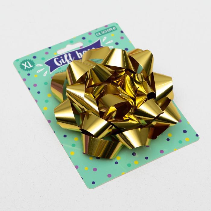Бант-звезда № 14 металлик, цвет золотой