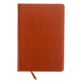 Ежедневник полудатированный, А5, 193 листа, в линейку, золотой срез, перфорированный угол, карта, ляссе, обложка из пвх, светло-коричневый Ош