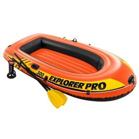 Лодка Explorer pro 300, 3 местная, 244 х 117 х 36 см, вёсла, ручной насос, до 200 кг, 58358NP INTEX Ош