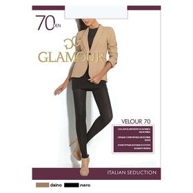 Колготки женские GLAMOUR Velour 70 den, цвет шоколад (capuccino), размер 5