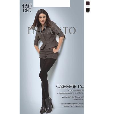 Колготки женские INCANTO Cashmere 160 den, цвет чёрный (nero), размер 4 - Фото 1